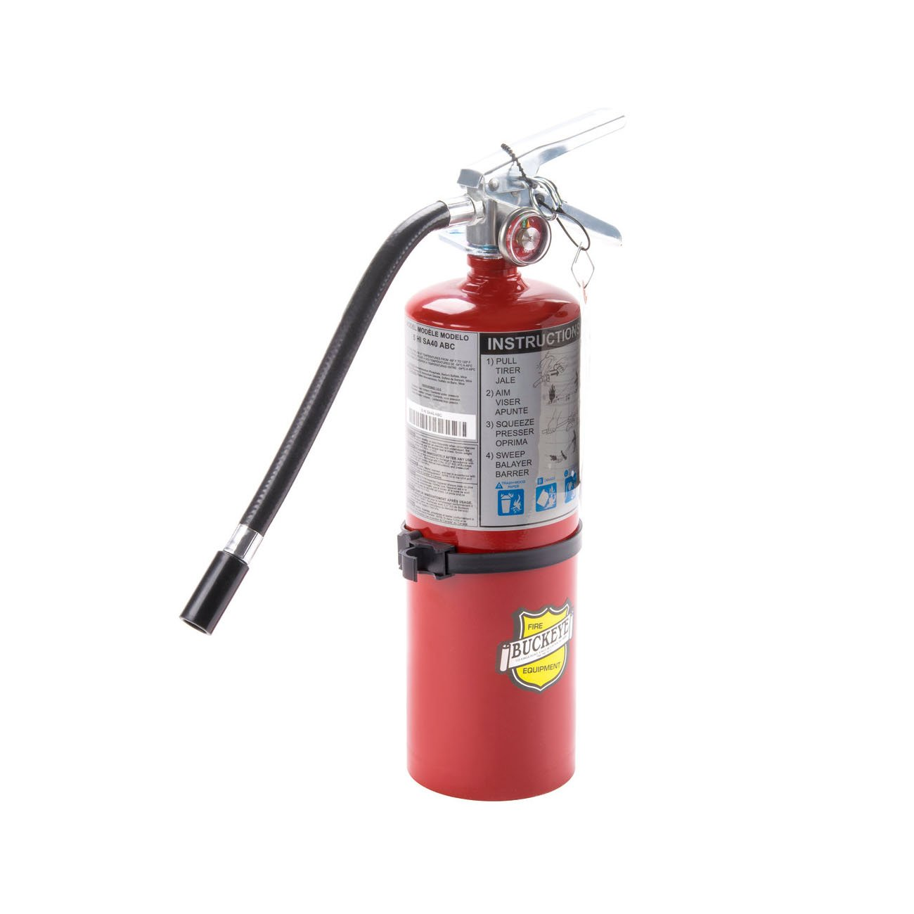 Buckeye 25614 Multi-Purpose and Chemical Handheld ABC Fire Extinguisher