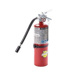 Buckeye 25614 ABC Multipurpose Dry Chemical Hand Held Fire Extinguisher with Aluminum Valve and Vehicle Bracket, 5 lbs Agent Capacity