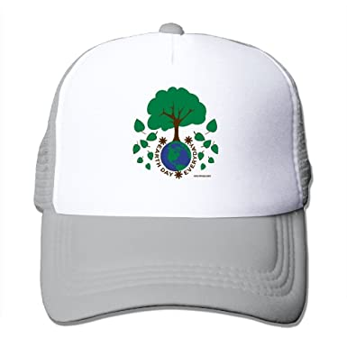 b0fcad0334c Amazon.com  Unisex Earth Day Everyday Trucker Hat Flat Along Baseball Cap  Suitable for Indoor Or Outdoor Activities Ash  Clothing