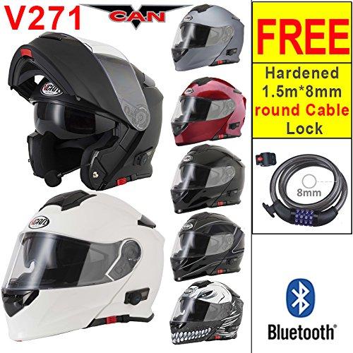 VCAN V271 Blinc Bluetooth Flip up Motorbike Motorcycle Helmet + FD-MOTO...