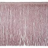 Expo International 10-Yard Metallic Chainette Fringe Trim, 12-Inch, Pink