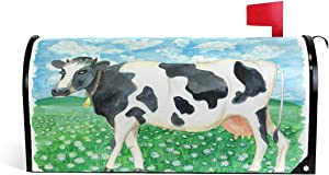 CFAUIRY Mailbox Cover Magnetic Cow Prairie Mailbox Wraps Letter Box Cover Standard Large Size Garden Yard Home Decor