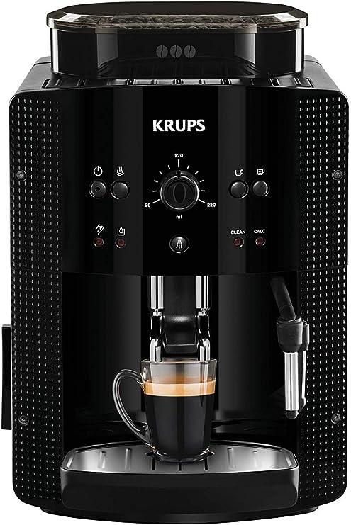 Krups Roma EA81R870 Cafetera súper-automática, 15bar, molinillo de café cónico de metal, 1.7L, función automática de ...