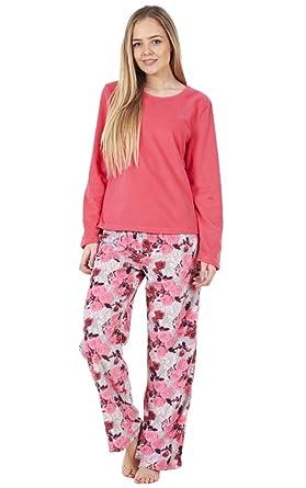 2fe7fd09fc Ladies Gorgeous Printed Fleece Pyjama Set Womens PJ s Winter Warm Nightwear