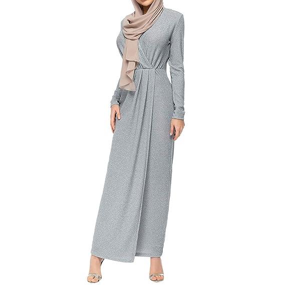 Setsail - Vestido de Mujer musulmán, Vestido Grande Turco Largo ...