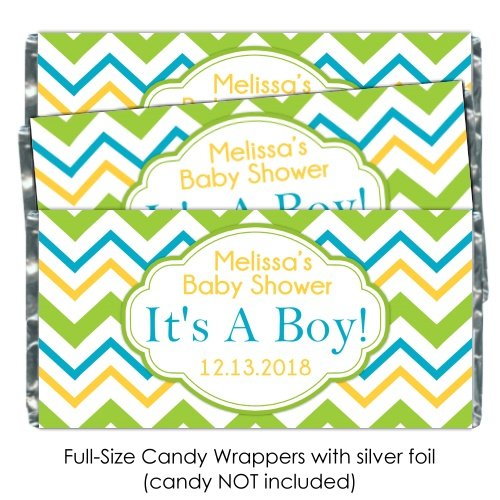 Amazon Baby Shower Candy Wrappers Its A Boy Yellow Green And