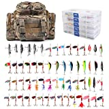 Search : Dr.Fish Fishing Tackle Bag Loaded 5 Boxes 60 Huge Fishing Lures Kit Spoons Spinners Crankbaits Soft Plastic Shad Swimbiats Trout Bass Salmon Fishing