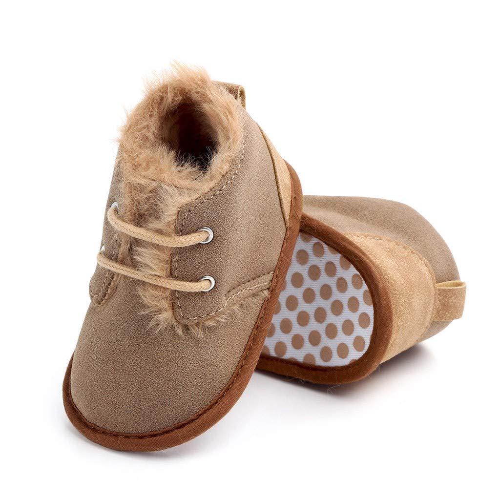 Lanhui Newborn Baby Warm Patchwork Anti-Slip Boots First Walkers Soft Sole Baby Shoes
