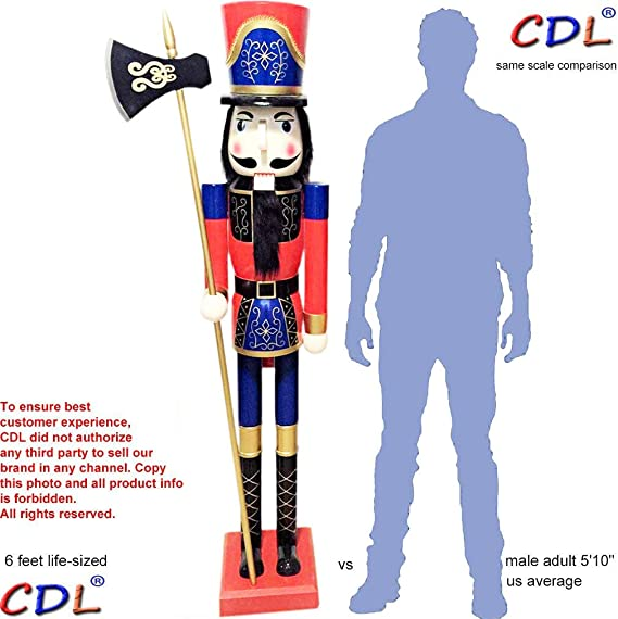 38 cm de hauteur en bois soldat casse-noisette sur son support casse-noisette soldat paillettes scintillant brillant casse-noisette cadeau de no/ël
