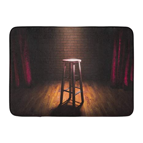 Sensational Amazon Com Emvency Bath Mat Show Red Club Wooden Stool On Gmtry Best Dining Table And Chair Ideas Images Gmtryco