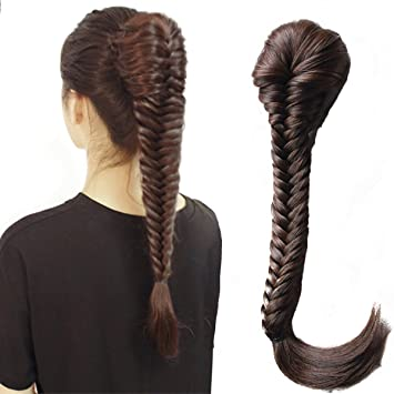 Amazoncom Wtb Hair Long Straight Ponytail Clip In Plaited Rope