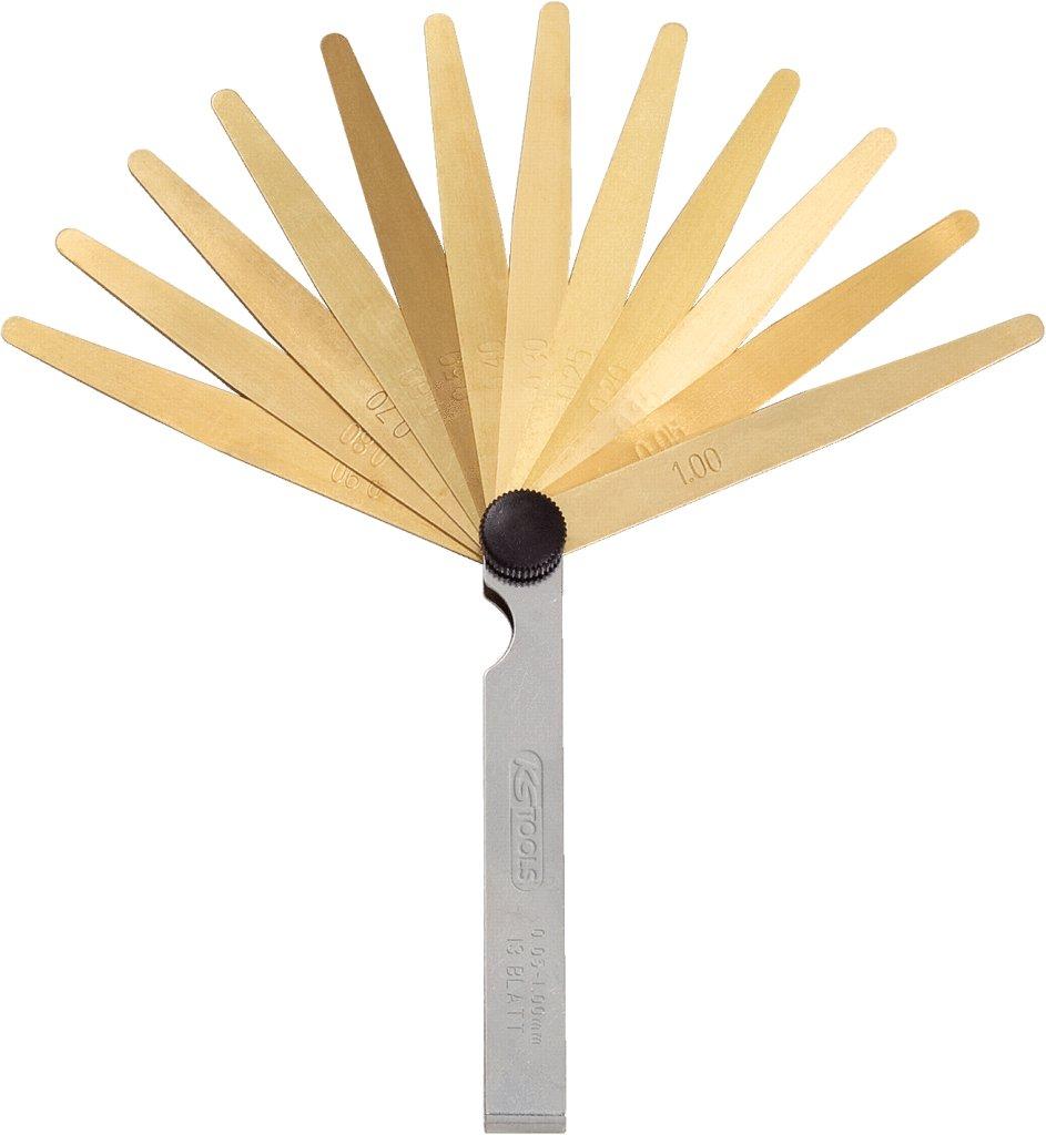KS Tools 300.0613 - Medidor de espesores, antimagné tico, 20 cuchillas antimagnético 4042146332993