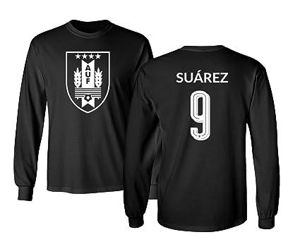 detailed look 96b6b 8507f Tcamp Uruguay 2018 National Soccer #9 Luis SUAREZ World Championship Men's  Long Sleeve T-Shirt