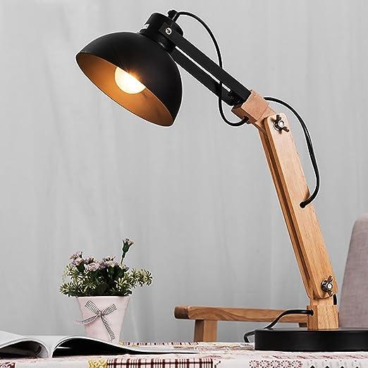 Lámpara de Mesa de Arte de Madera y Hierro al Lado de la lámpara ...