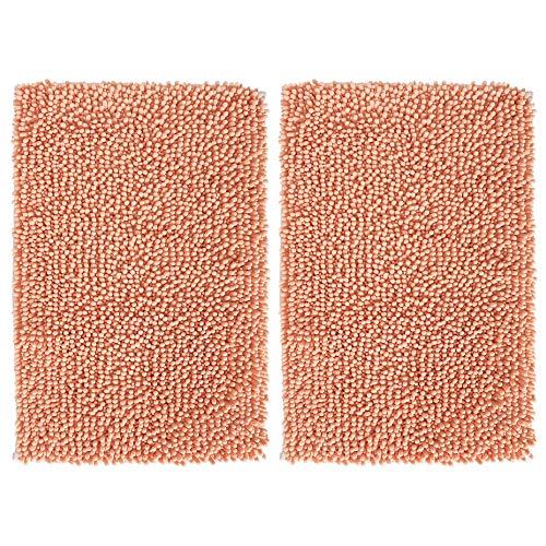 (mDesign Soft Microfiber Polyester Non-Slip Rectangular Spa Mat, Plush Water Absorbent Accent Rug for Bathroom Vanity, Bathtub/Shower, Machine Washable - 30