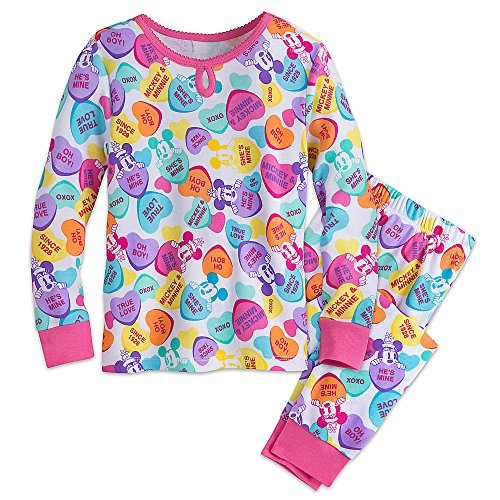 Disney Mickey and Minnie Mouse Sweethearts PJ PALS Pajamas for Girls Size 4