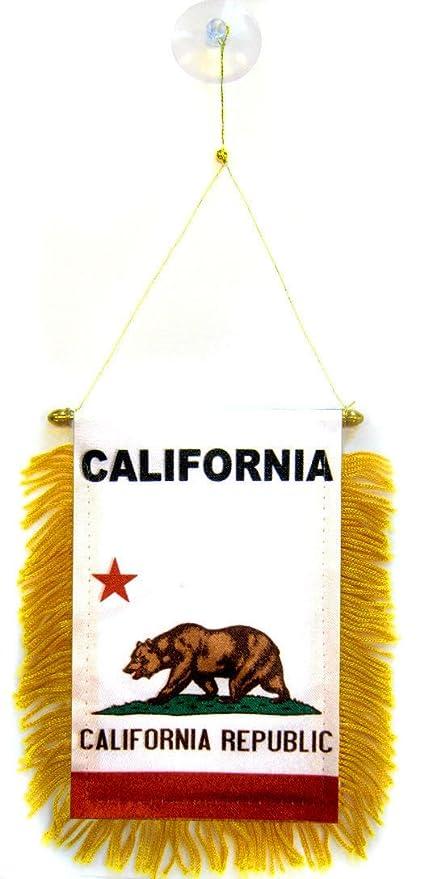 06d32edcbecd2 Amazon.com : ALBATROS (Pack of 12) State California Mini Flag 4 inch ...