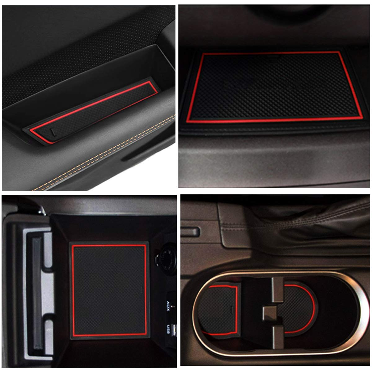 White Jaronx 14PCS Center Console Cup Holder Liner for Subaru Impreza and Crosstrek 2018 2019 2020,Center Console Mats Anti-dust Non-Slip Interior Door Storage Mat Pad