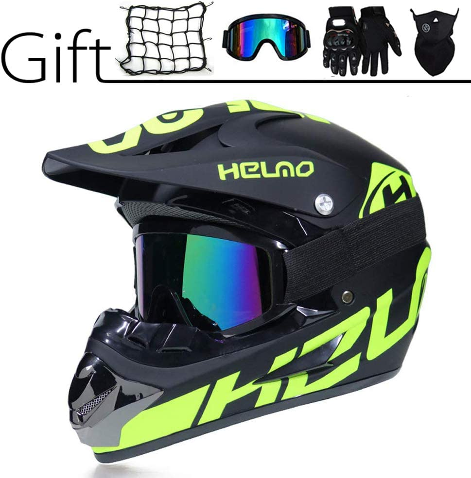 XL Motorcycle Motocross Helmet Adult Full Face Motorbike Helmet Men and Women Off Road Helmets Crash Helmet for Downhill Off Road Quad Bike Enduro Racing ATV Dirt