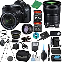 Canon EOS 6D Camera + 24-105mm STM + 2pcs ZeeTech 16GB Memory + Case + Reader + Tripod + Starter Set + Wide Angle + Telephoto + Flash + Battery + Charger + Filter - International Version
