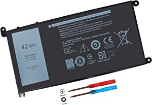 42Wh WDX0R Battery Compatible with Dell Inspiron 15 5565 5567 5568 5578 5579 7560 7570 7579 7569 13 5368 5378 5379 7368 7378 14 5468 7460 7472 17 5765 5767 5770 5000 7000 Series P58F FC92N 3CRH3 T2JX4