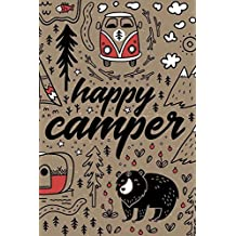 "Happy Camper: Camping RV Trailer Travel Log Camping Journal For Kids RV Journal with Prompts for Writing Insert Photo 6"" x 9"""