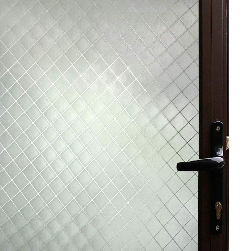 Qualsen Window Films Bamboo Static Decorative Privacy Window Films for Glass Non-Adhesive Anti Uv Window Sticker for Home Kitchen Bedroom Living Room (11.8 x 78.7 inch) QL024-30200