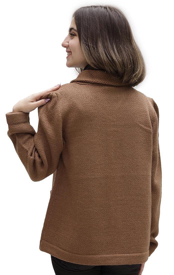 Amazon.com: De la Mujer Suave lana de alpaca four-button ...