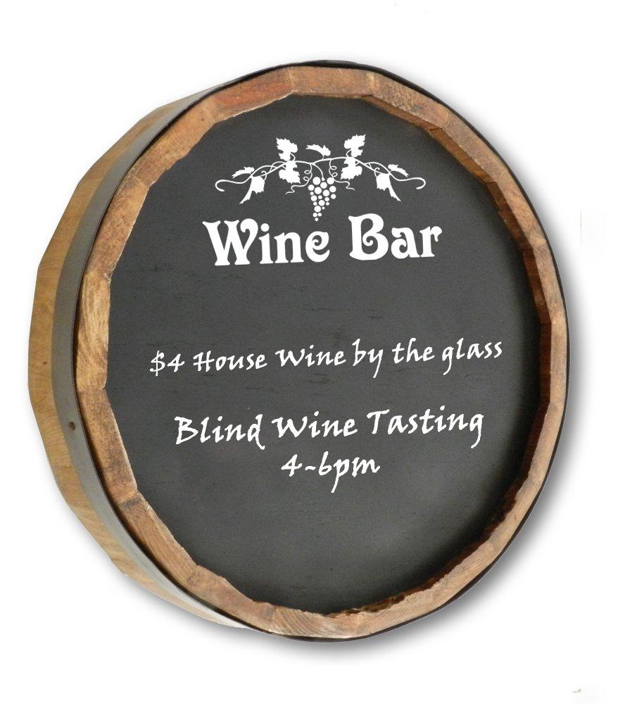Wine Bar Quarter Barrel Chalkboard Sign