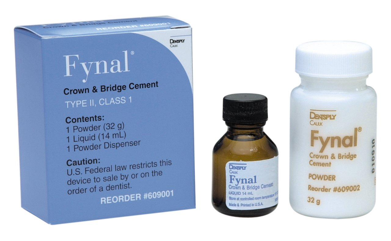 Dentsply 609001 Fynal Permanent ZOE Cement Complete Package