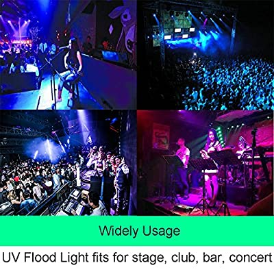 LED UV Light Black Light, Aluxcia 30W Ultra Violet LED Flood Light IP65 Waterproof Blacklight for Stage Lighting Party Neon Glow Lighting with US Plug, 1-Pack
