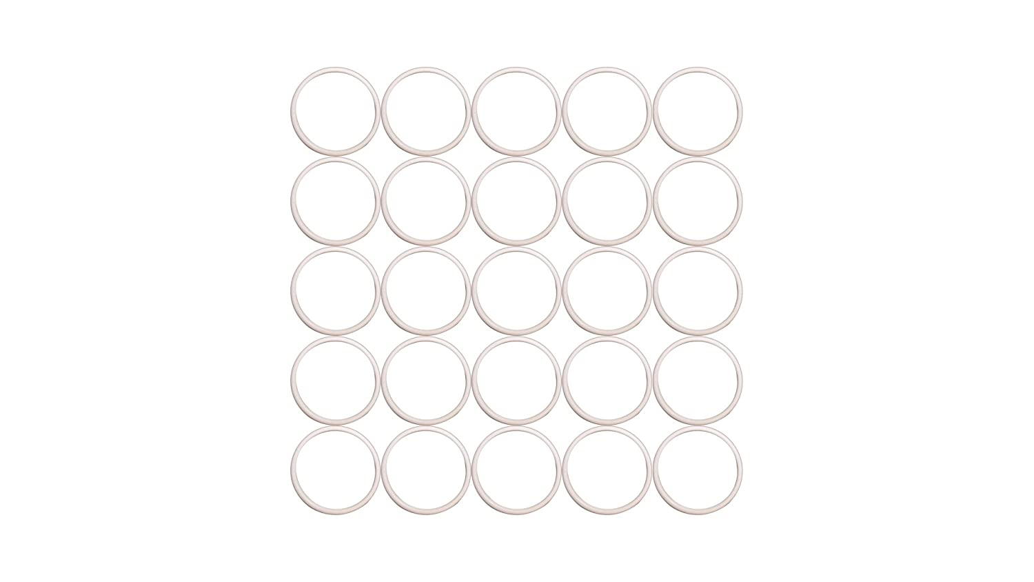 7//8 ID 1 OD Sterling Seal ORTFE020x25 Number-020 Standard Teflon O-Ring Outstanding Weather Resistance 1 OD 7//8 ID Polytetrafluoro-Ethylene Sur-Seal Pack of 25 Pack of 25