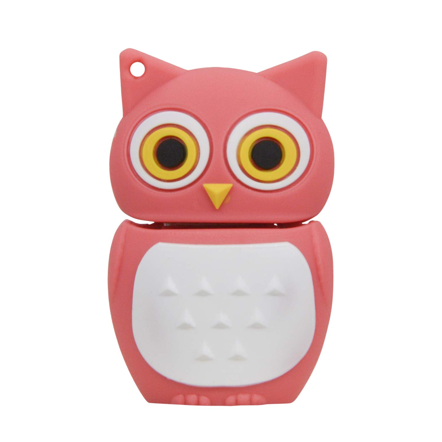 Flash Drive 8GB USB 2.0 Memory Stick - Lovely Pink Owl Pendrive Data Storage - Data Storage Thumb Drive Gift for Family Employees Friends by FEBNISCTE