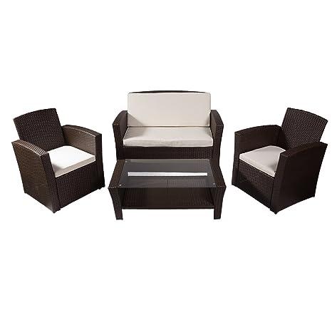 REBAJAS : Salon de jardin con sillones y mesa de polirratan ...