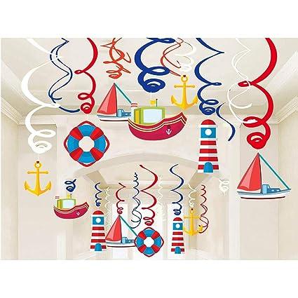 Amazoncom Kristin Paradise 30ct Nautical Hanging Swirl Decorations