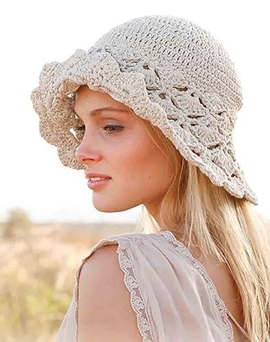 a04d7035d8b Amazon.com  Sun hat womens Beach hat Summer hat Hemp hat Cotton hat Brim hat  Beach hat Crochet hat Spring hat Derby hat Straw hat Bucket hat Womens hat   ...