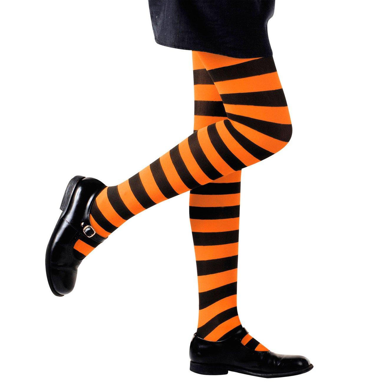 Widmann–Collants à rayures orange/noir 01215