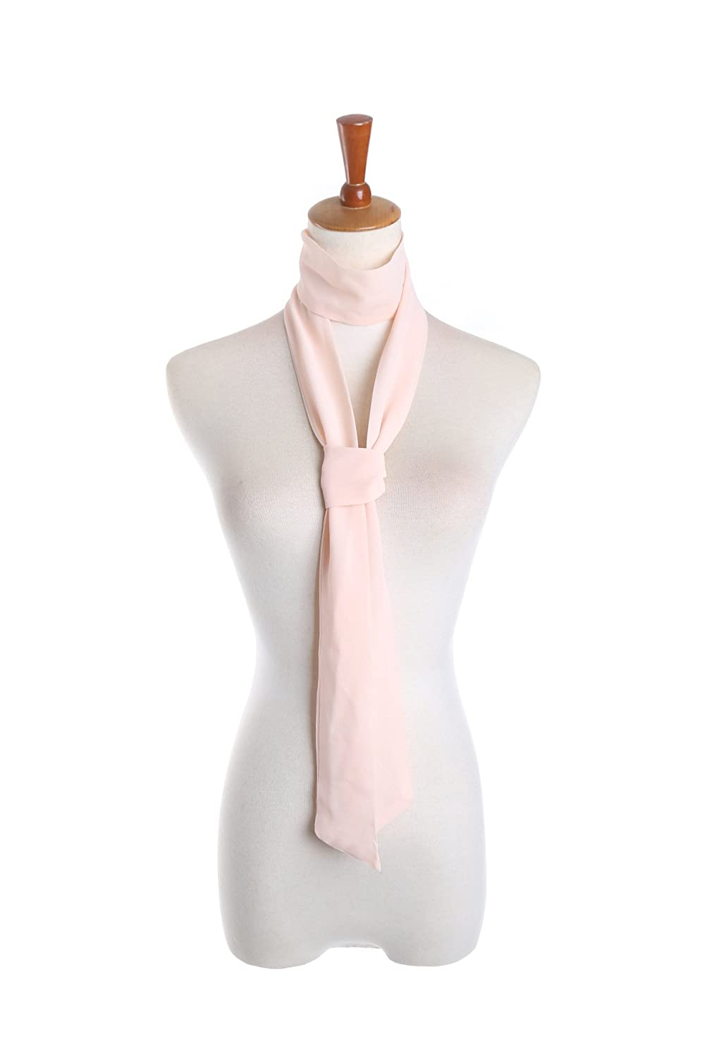 Women Solid Chiffon Neck Skinny Thin Tie Long Scarf Neckerchief Hairband Ribbon Belt 200×7cm