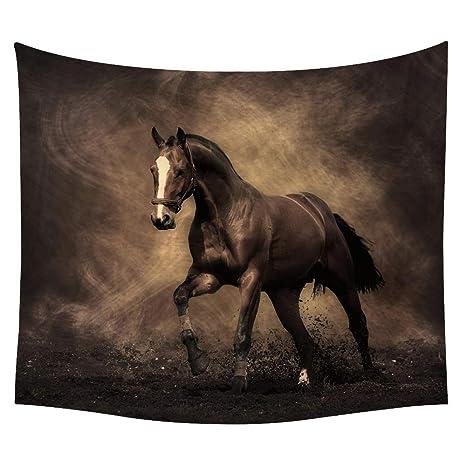 Lovetapestry Un Cavallo Da Corsa Arazzo Il Cavallo Nero Si Blocca