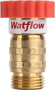 Watflow Water Pressure Regulator, Lead-Free Brass, Garden Hose Pressure Regulator/Reducer, 40-50 psi, 3/4