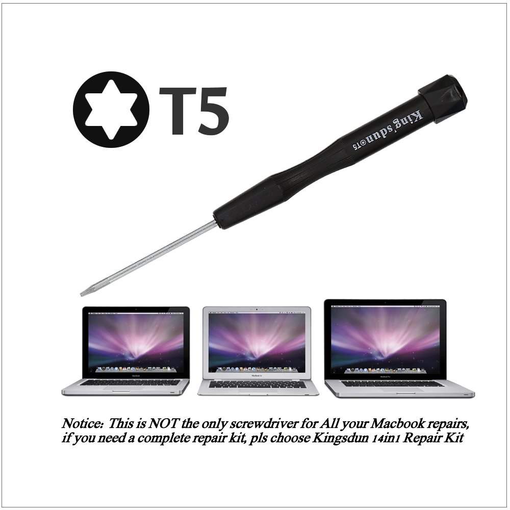 Kingsdun 4pcs MacBook Repair Tool Kit Precision Pentalobe Screwdriver Set P5,Torx Driver T5,Philips PH000 for Apple MacBook Air /& Macbook pro with Retina Display Kingsdun Tools