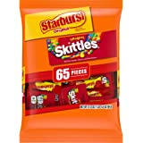 SKITTLES & STARBURST Christmas Candy Fun Size Variety Mix 31.9-Ounce Bag 65 Pieces