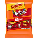 SKITTLES & STARBURST Halloween Candy Fun Size Variety Mix 31.9-Ounce Bag, 65 Pieces