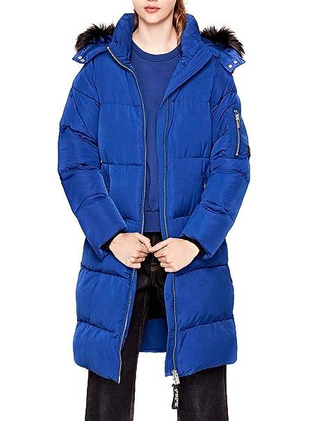 168fa3f055f Pepe Jeans Abrigo Berta Azul Mujer M 551BLUE  Amazon.es  Ropa y accesorios