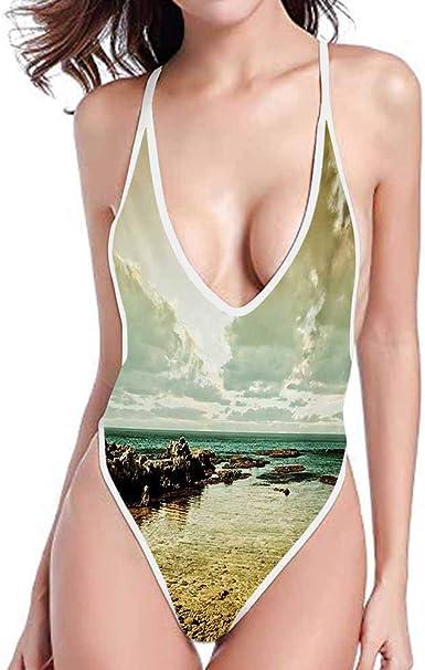 kjhep lk Siamese Shoulder Strap Bikini Cover up Dress