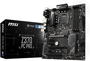 MSI PRO Series Intel 8th Gen LGA 1151 M.2 DVI HDMI USB 3.1 Gigabit LAN CFX ATX Motherboard (Z370 PC PRO)