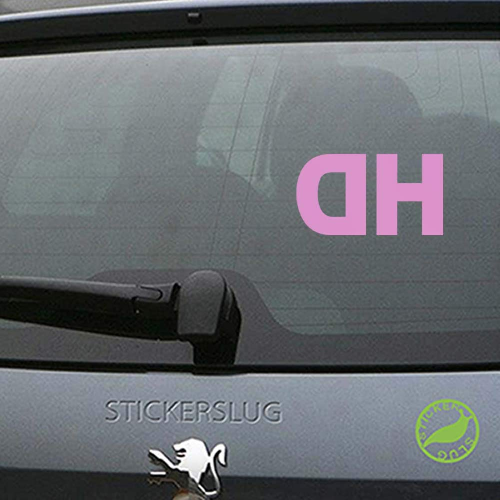 Amazoncom Hd High Definition Decal Sticker Pink 8 Inch Reversed