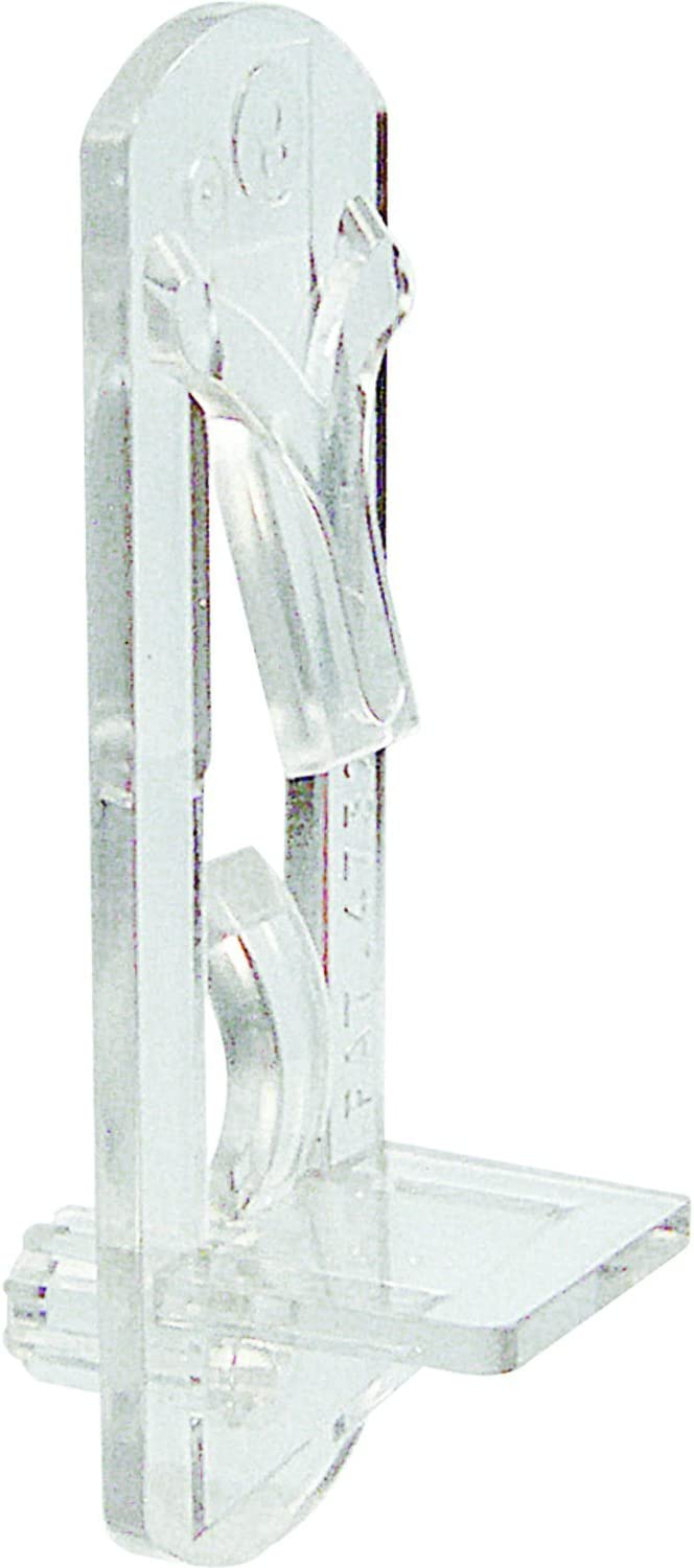 4 Pack Prime-Line Products U 10181 Self-Locking Shelf Support Pegs Clear