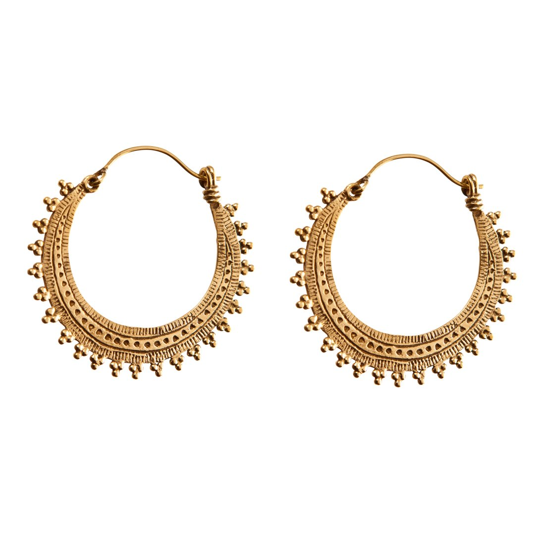 31d02fd4a7ce7 Buy 81stgeneration Women's Brass Gold Tone Ethnic Hoop Tribal Indian ...