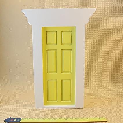 Buy 1/12 Scale External Wooden Doors for Dolls House Miniature ... External Wooden Door Furniture on